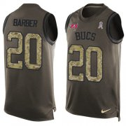 Wholesale Cheap Nike Buccaneers #20 Ronde Barber Green Men's Stitched NFL Limited Salute To Service Tank Top Jersey