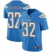 Wholesale Cheap Nike Chargers #32 Justin Jackson Electric Blue Alternate Men's Stitched NFL Vapor Untouchable Limited Jersey