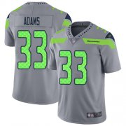 Wholesale Cheap Nike Seahawks #33 Jamal Adams Gray Men's Stitched NFL Limited Inverted Legend Jersey