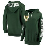 Wholesale Cheap Oakland Athletics G-III 4Her by Carl Banks Women's 12th Inning Pullover Hoodie Green