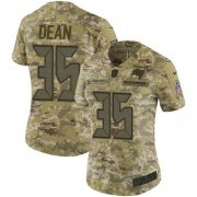 Wholesale Cheap Nike Buccaneers #35 Jamel Dean Camo Women's Stitched NFL Limited 2018 Salute To Service Jersey