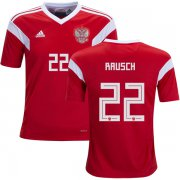 Wholesale Cheap Russia #22 Rausch Home Kid Soccer Country Jersey