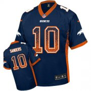 Wholesale Cheap Nike Broncos #10 Emmanuel Sanders Blue Alternate Youth Stitched NFL Elite Drift Fashion Jersey
