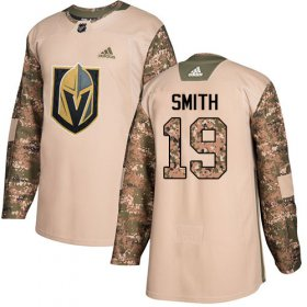 Wholesale Cheap Adidas Golden Knights #19 Reilly Smith Camo Authentic 2017 Veterans Day Stitched NHL Jersey