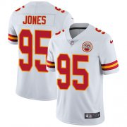 Wholesale Cheap Nike Chiefs #95 Chris Jones White Youth Stitched NFL Vapor Untouchable Limited Jersey