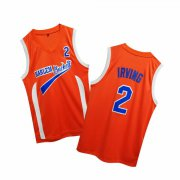 Wholesale Cheap Uncle Drew Harlem Buckets 2 Kyie Irving Orange Movie Basketball Jersey