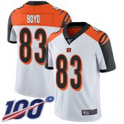 Wholesale Cheap Nike Bengals #83 Tyler Boyd White Men's Stitched NFL 100th Season Vapor Limited Jersey