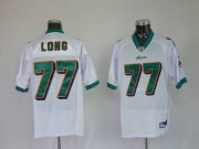 Wholesale Cheap Dolphins Jake Long #77 White Stitched NFL Jersey