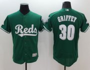 Wholesale Reds #30 Ken Griffey Green Celtic Flexbase Authentic Collection Stitched Baseball Jersey