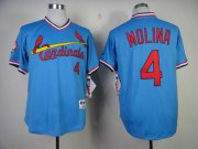 Wholesale Cheap Cardinals #4 Yadier Molina Blue 1982 Turn Back The Clock Stitched MLB Jersey