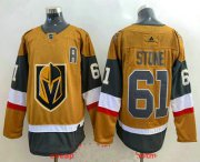 Wholesale Cheap Men's Vegas Golden Knights #61 Mark Stone Gold 2020-21 Alternate Stitched Adidas Jersey