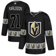 Wholesale Cheap Adidas Golden Knights #71 William Karlsson Black Authentic Team Logo Fashion Stitched NHL Jersey