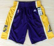 Wholesale Cheap Los Angeles Lakers Purple Short