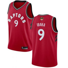 Wholesale Cheap Raptors #9 Serge Ibaka Red 2019 Finals Bound Women\'s Basketball Swingman Icon Edition Jersey