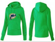 Wholesale Cheap Women's Miami Dolphins Logo Pullover Hoodie Green