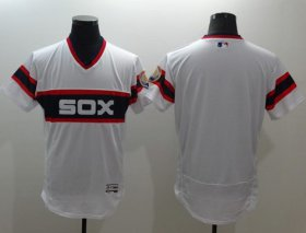 Wholesale Cheap White Sox Blank White Flexbase Authentic Collection Alternate Home Stitched MLB Jersey