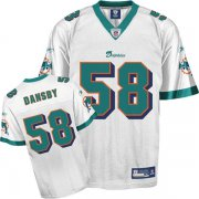 Wholesale Cheap Dolphins #58 Karlos Dansby White Stitched NFL Jersey