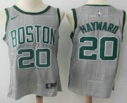 Wholesale Cheap Men's Boston Celtics #20 Gordon Hayward Gray NBA Swingman City Edition Jersey