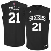 Wholesale Cheap Philadelphia 76ers #21 Joel Embiid Black Chase Fashion Replica Jersey