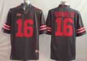 Wholesale Cheap Ohio State Buckeyes #16 J.T. Barrett 2014 Gray Limited Jersey