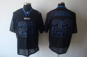 Wholesale Cheap Bills #22 Fred Jackson Lights Out Black Stitched NFL Jersey