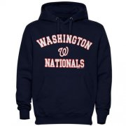 Wholesale Cheap Washington Nationals Fastball Fleece Pullover Navy Blue MLB Hoodie