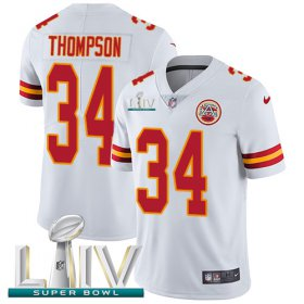 Wholesale Cheap Nike Chiefs #34 Darwin Thompson White Super Bowl LIV 2020 Youth Stitched NFL Vapor Untouchable Limited Jersey
