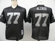 Wholesale Cheap Mitchell and Ness Raiders #77 Lyle Alzado Black Stitched Throwback NFL Jersey