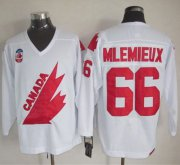 Wholesale Cheap Olympic 1991 CA. #66 Mario Lemieux White CCM Throwback Stitched NHL Jersey
