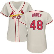 Wholesale Cheap Cardinals #48 Harrison Bader Cream Alternate Women's Stitched MLB Jersey