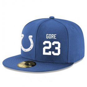 Wholesale Cheap Indianapolis Colts #23 Frank Gore Snapback Cap NFL Player Royal Blue with White Number Stitched Hat