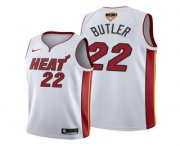 Wholesale Cheap Men's Miami Heat #22 Jimmy Butler White 2020 Finals Bound Association Edition Stitched NBA Jersey
