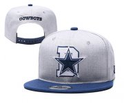 Wholesale Cheap Cowboys Team Logo Gray Blue Adjustable Hat YD