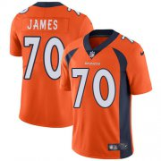 Wholesale Cheap Nike Broncos #70 Ja'Wuan James Orange Team Color Men's Stitched NFL Vapor Untouchable Limited Jersey