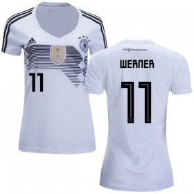 Wholesale Cheap Women\'s Germany #11 Werner White Home Soccer Country Jersey