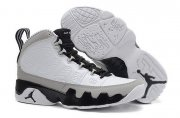 Wholesale Cheap Womens Air Jordan 9 Retro Barons White/gray-black