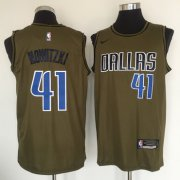 Wholesale Cheap Dallas Mavericks #41 Dirk Nowitzki Olive Nike Swingman Jersey