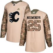 Wholesale Cheap Adidas Flames #25 Joe Nieuwendyk Camo Authentic 2017 Veterans Day Stitched NHL Jersey
