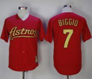 Wholesale Cheap Astros #7 Craig Biggio Red 2002-2012 Turn Back The Clock Stitched MLB Jersey