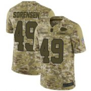 Wholesale Cheap Men's Kansas City Chiefs #49 Daniel Sorensen 2018 Salute to Service Jersey - Limited Camo