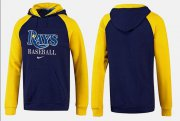 Wholesale Cheap Tampa Bay Rays Pullover Hoodie Dark Blue & Yellow