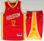 Wholesale Cheap Houston Rockets #12 Dwight Howard Red Throwback Revolution 30 Swingman NBA Jerseys Shorts Suits