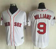 Wholesale Cheap Red Sox #9 Ted Williams White New Cool Base 2018 World Series Champions Stitched MLB Jersey