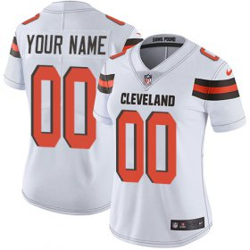 Wholesale Cheap Nike Cleveland Browns Customized White Stitched Vapor Untouchable Limited Women\'s NFL Jersey