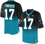 Wholesale Cheap Nike Panthers #17 Devin Funchess Black/Blue Men's Stitched NFL Elite Fadeaway Fashion Jersey