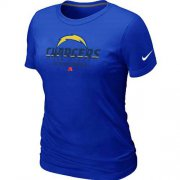 Wholesale Cheap Women's Nike Los Angeles Chargers Critical Victory NFL T-Shirt Blue
