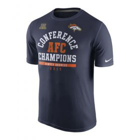 Wholesale Cheap Denver Broncos Nike 2015 AFC Conference Champions Arch Legend T-Shirt Navy