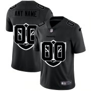 Wholesale Cheap Las Vegas Raiders Custom Men's Nike Team Logo Dual Overlap Limited NFL Jersey Black
