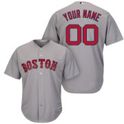 Wholesale Cheap Boston Red Sox Majestic Cool Base Custom Jersey Gray