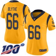 Wholesale Cheap Nike Rams #66 Austin Blythe Gold Women's Stitched NFL Limited Rush 100th Season Jersey